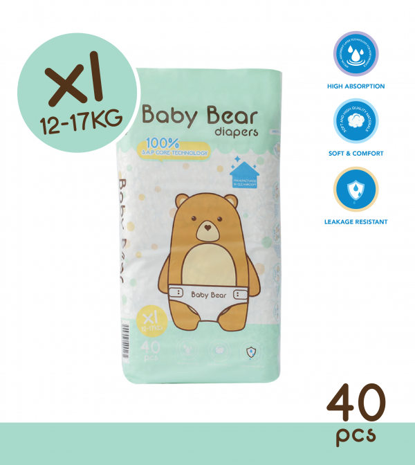 Baby Bear Diapers (XL)
