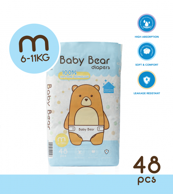 Baby Bear Diapers (M)